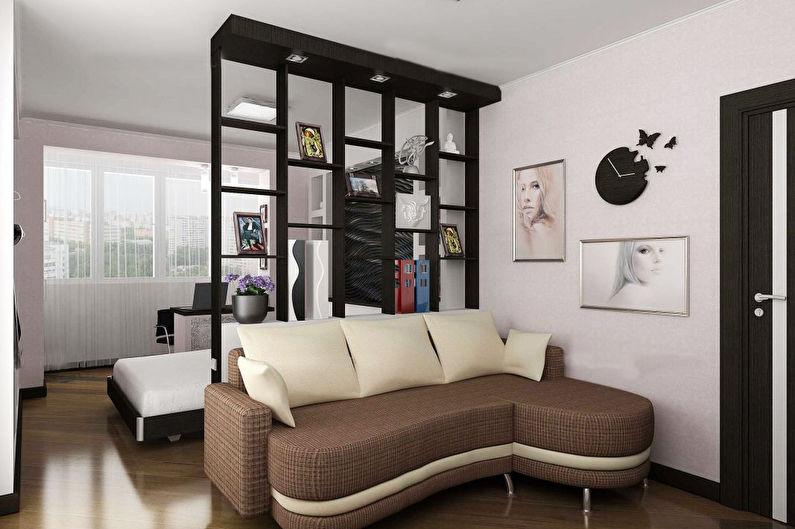Дизайн спальни-гостиной - Отделка пола
