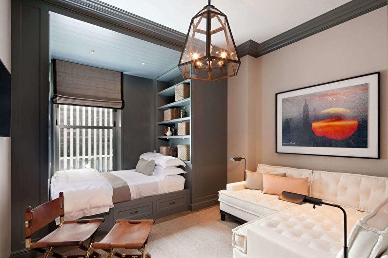 Маленькая спальня-гостиная - Дизайн интерьера