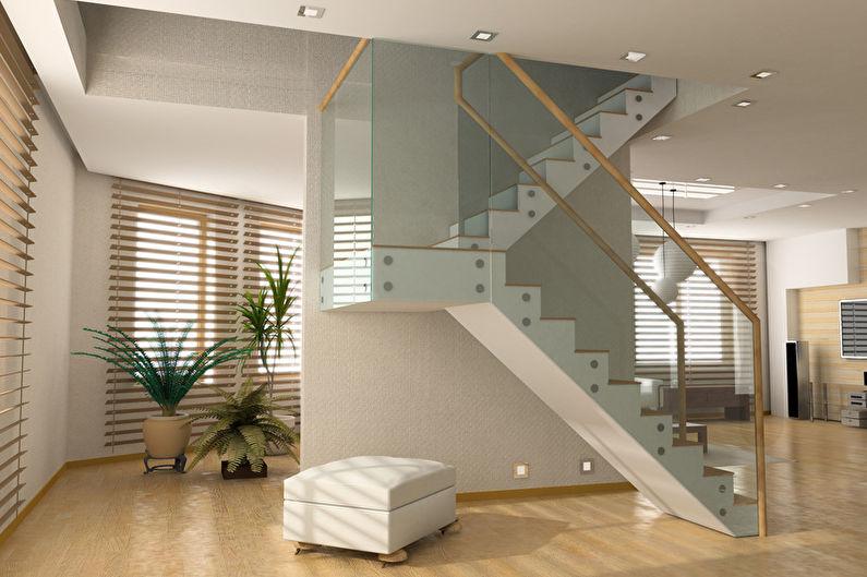 Маршевые лестницы на второй этаж