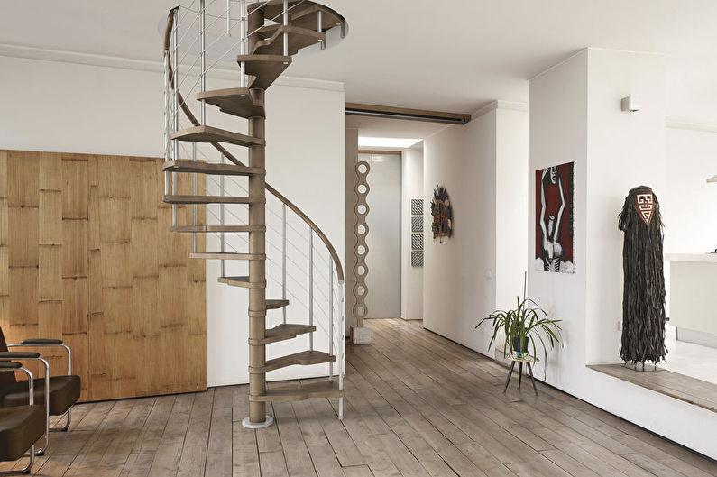 Винтовые лестницы на второй этаж
