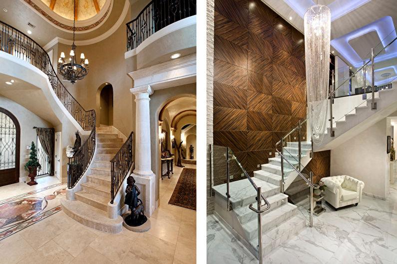 Каменные лестницы на второй этаж