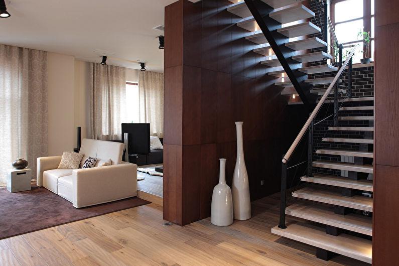 Лестницы на второй этаж в современном стиле