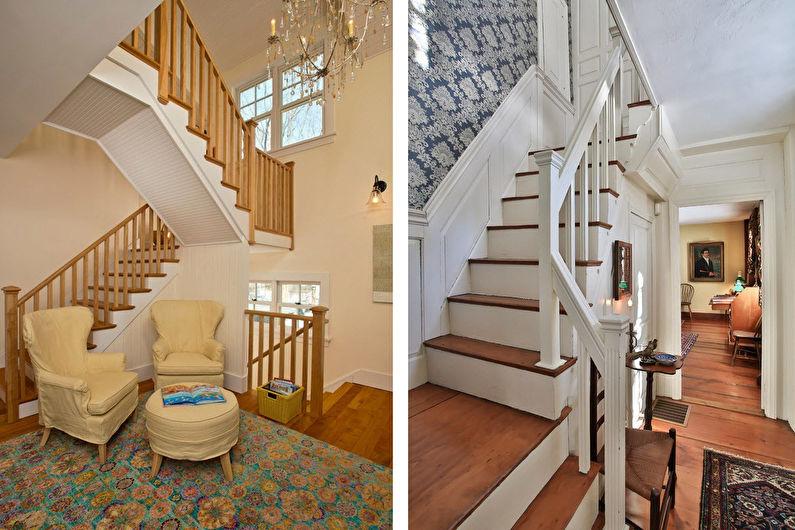 Лестницы на второй этаж в классическом стиле