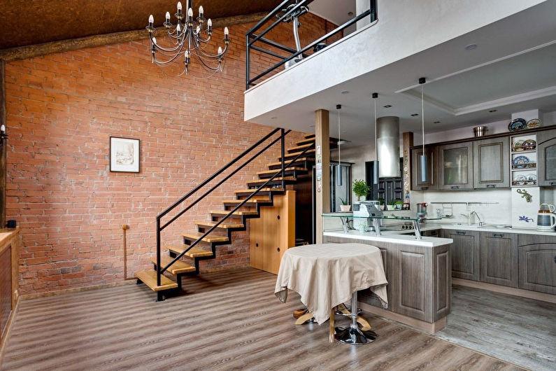 Лестницы на второй этаж в стиле лофт