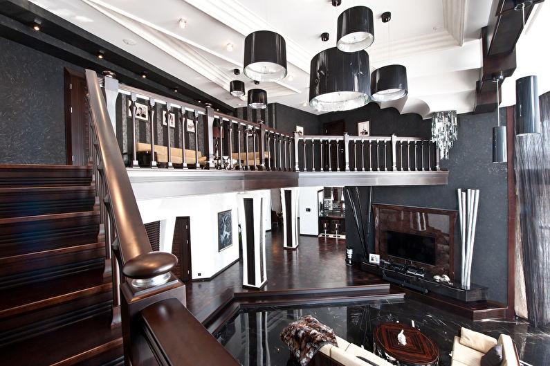 Лестницы на второй этаж в стиле ар-деко