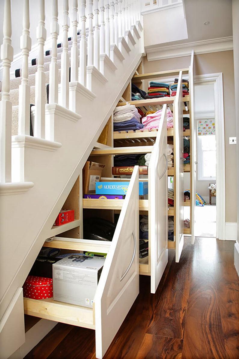 Как оформить пространство под лестницей