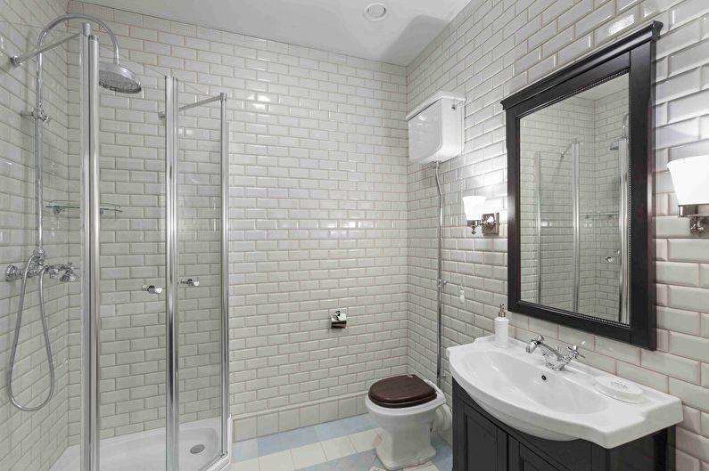 Белая ванная в классическом стиле - Дизайн интерьера
