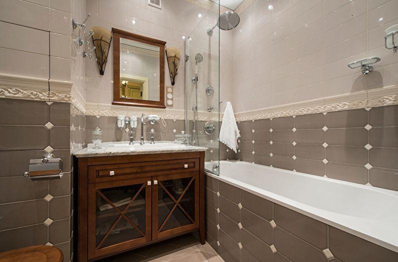 Бежевая ванная в классическом стиле - Дизайн интерьера