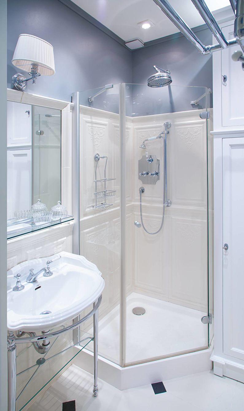 Синяя ванная комната в классическом стиле - Дизайн интерьера