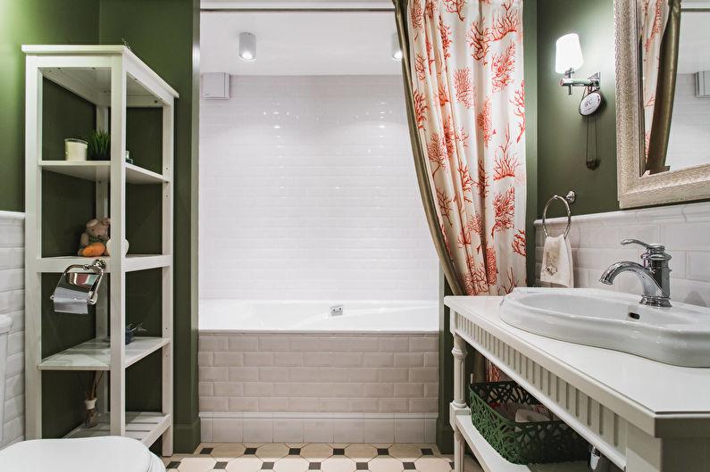 Ванная комната в классическом стиле с контрастными акцентами - Дизайн интерьера