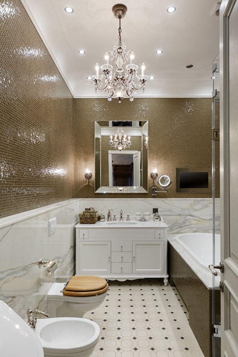 Ванная комната в классическом стиле - Отделка пола