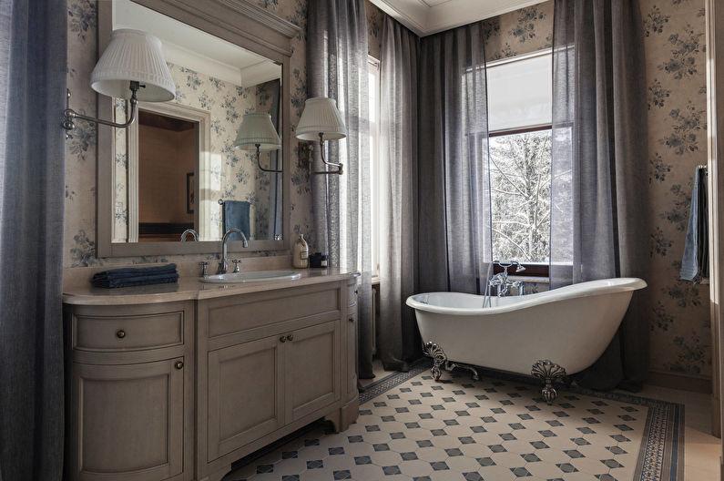 Ванная комната в классическом стиле - Отделка стен