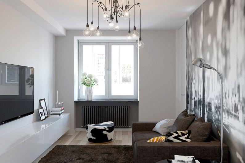 Гостиная 16 кв.м. в современном стиле - Дизайн интерьера