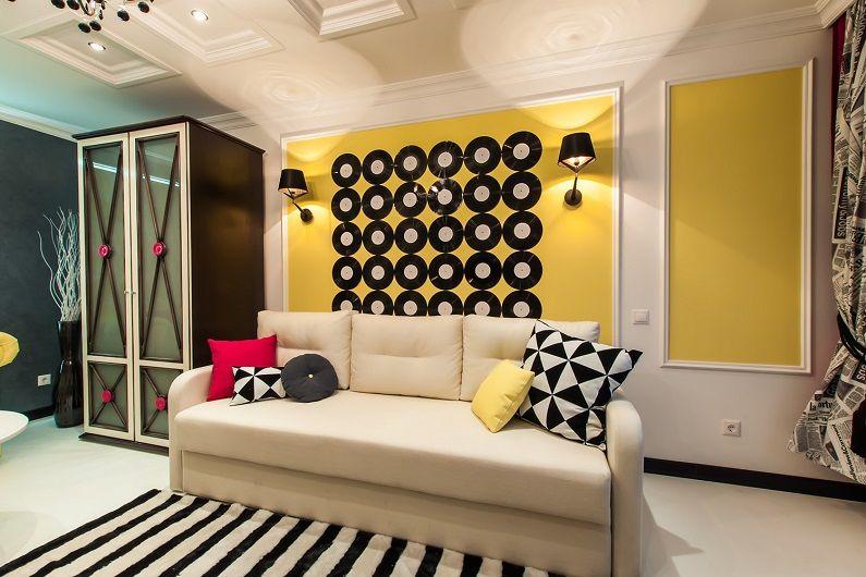 Гостиная 16 кв.м. в стиле поп-арт - Дизайн интерьера