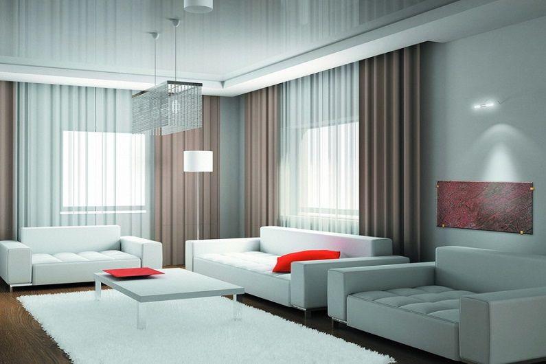 Гостиная 16 кв.м. в стиле минимализм - Дизайн интерьера