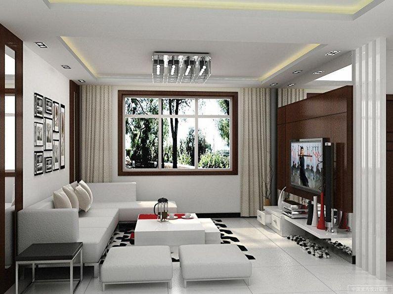 Дизайн гостиной 16 кв.м. - Контрастные сочетания