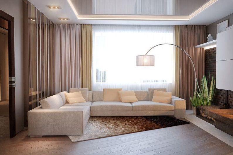 Дизайн гостиной 16 кв.м. - Отделка пола