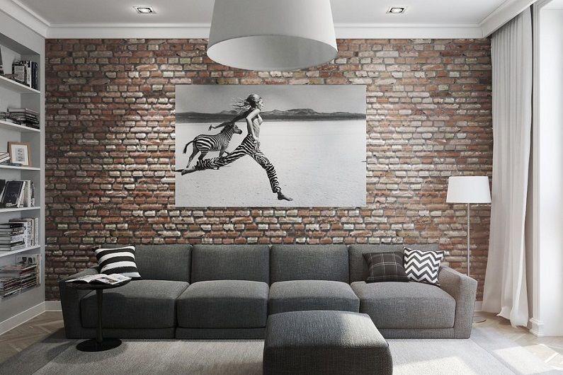 Дизайн гостиной 16 кв.м. - Декор и текстиль
