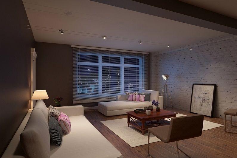 Дизайн гостиной 16 кв.м. - Освещение и подсветка