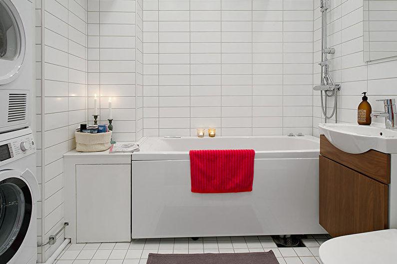 Дизайн интерьера ванной в скандинавском стиле - Особенности