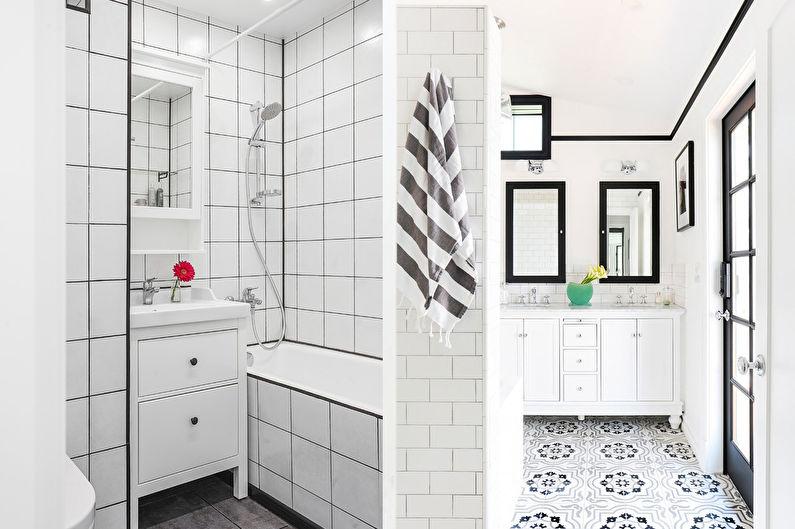Дизайн ванной в скандинавском стиле - Белый цвет