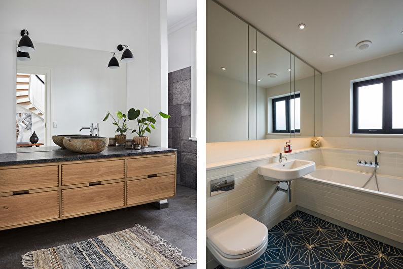 Дизайн ванной в скандинавском стиле - Яркие акценты