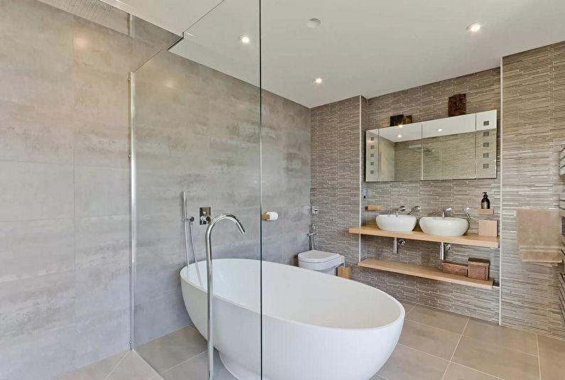 Дизайн ванной в скандинавском стиле - Естественные оттенки