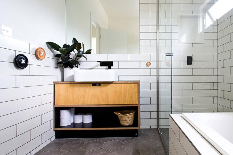 Дизайн ванной в скандинавском стиле - Мебель