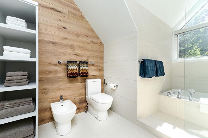 Дизайн ванной в скандинавском стиле - Декор и освещение