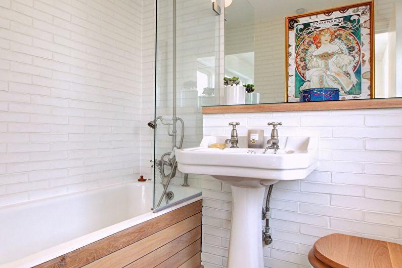 Дизайн интерьера маленькой ванной комнаты в скандинавском стиле