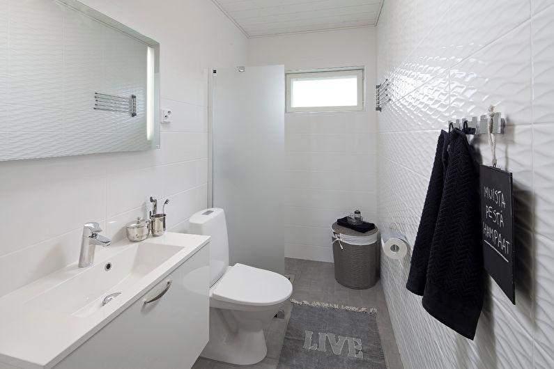 Дизайн интерьера ванной комнаты в скандинавском стиле - фото