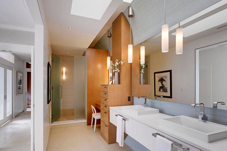 Дизайн интерьера ванной в современном стиле - Особенности