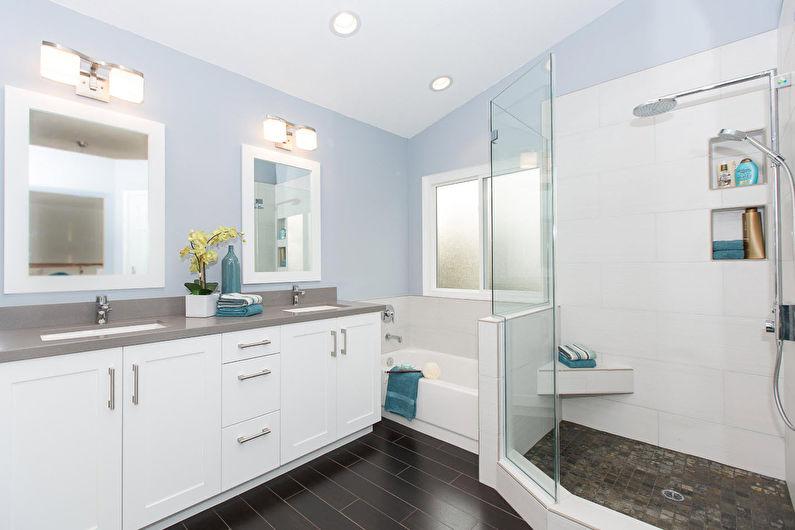 Синяя ванная в современном стиле - Дизайн интерьера