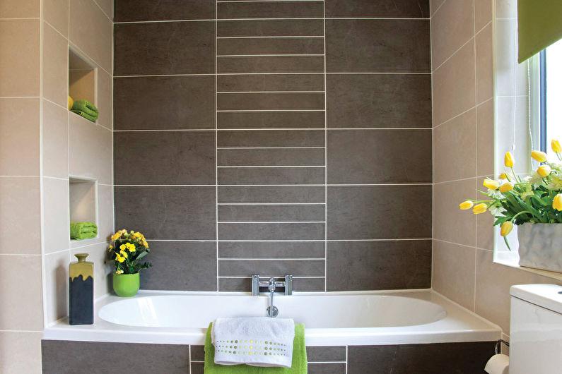 Дизайн ванной комнаты в современном стиле - Отделка стен