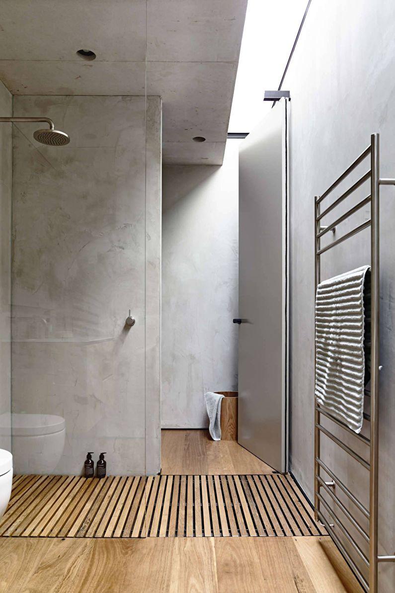 Дизайн ванной комнаты в современном стиле - Отделка потолка