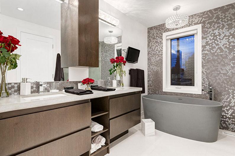 Дизайн ванной в современном стиле - Декор и освещение