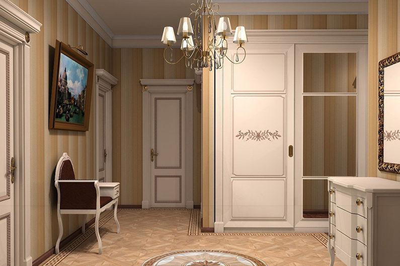 Дизайн прихожей в классическом стиле - Пастельные тона