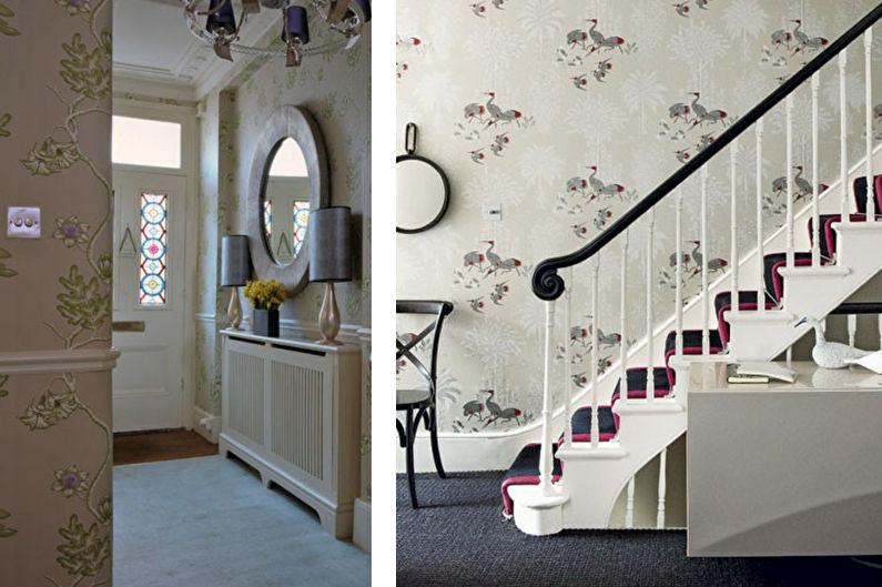 Дизайн прихожей в классическом стиле - Отделка стен