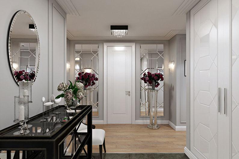 Дизайн прихожей в классическом стиле - Декор и освещение