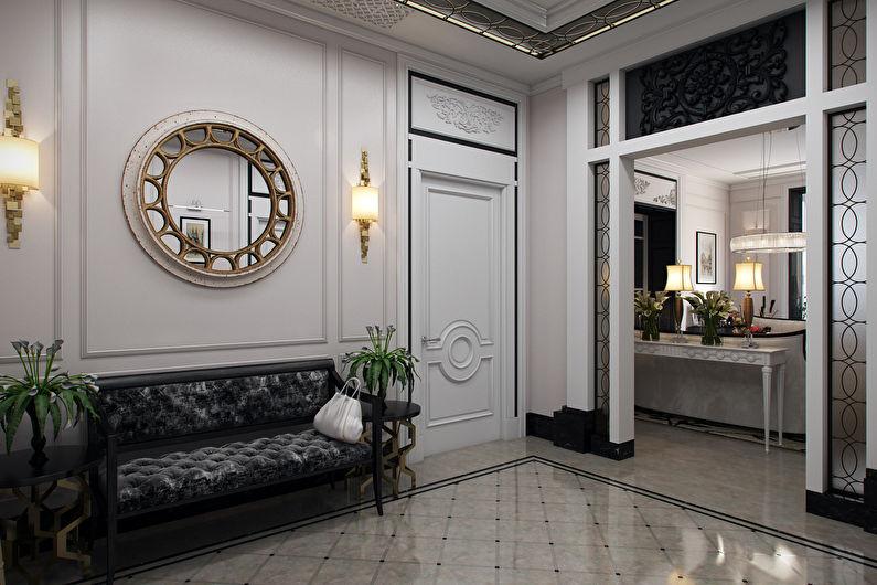Дизайн интерьера прихожей в классическом стиле - фото