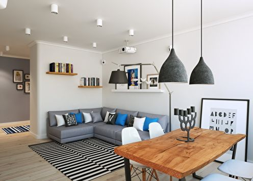 Квартира в скандинавском стиле, 90 м2