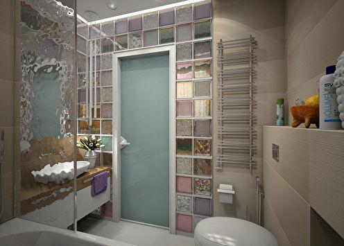Ванная комната «Стекло и цвет»