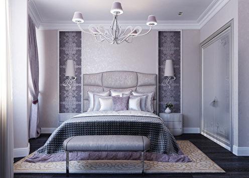 Purple Rhapsody: Спальня в стиле ар-деко