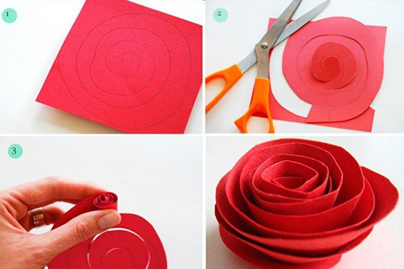 Как сделать розу из бумаги своими руками для открытки, красивой