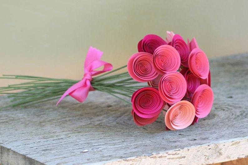 Спиралевидная роза из бумаги своими руками
