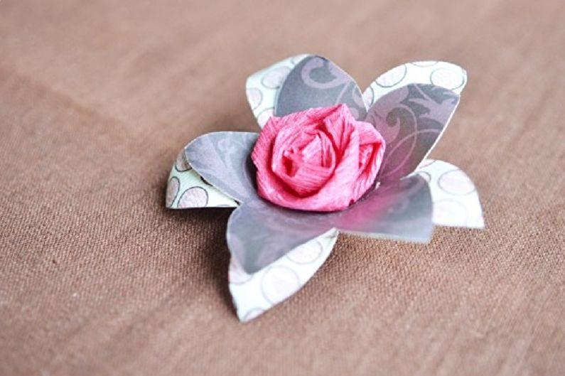 Многоуровневая роза из бумаги своими руками