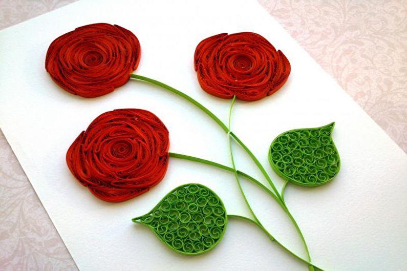 Роза из бумаги своими руками в технике квиллинг