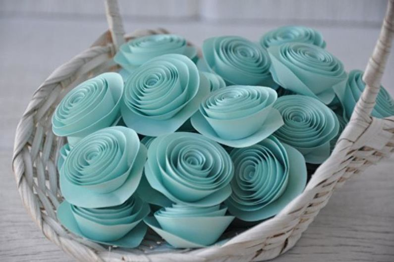 Роза из бумаги своими руками - Корзинка
