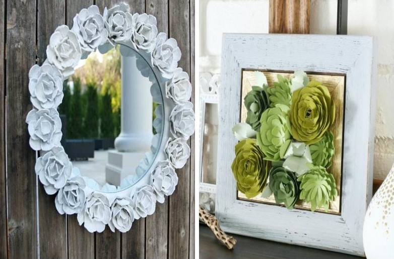 Роза из бумаги своими руками - Рамка для фото или картина
