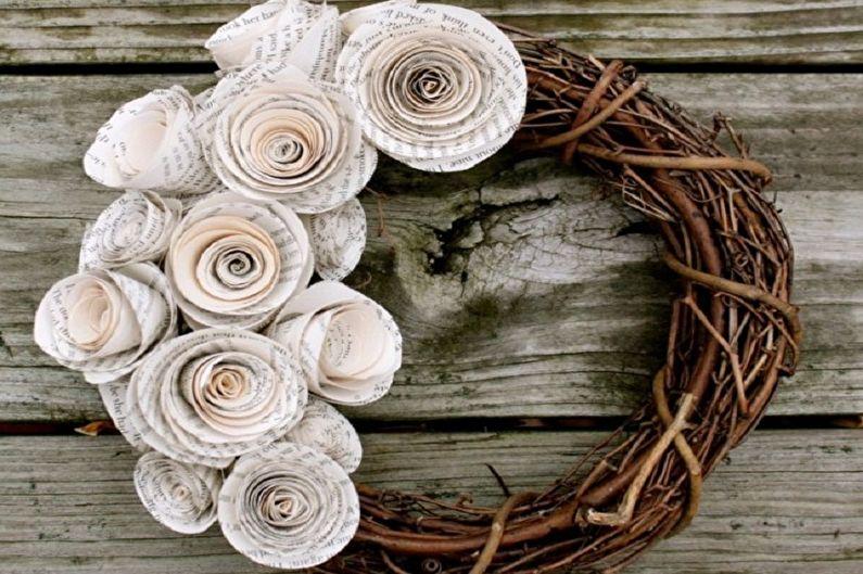 Роза из бумаги своими руками - Венок
